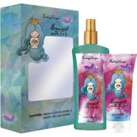 Kit Body Splash Fantasy Escape Mermaid Water 200Ml + Loção Corporal 200Ml - Unissex