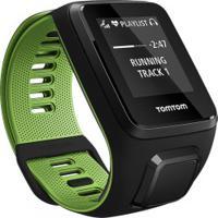 Monitor Cardíaco Com Gps Tomtom Runner 3 Music - Preto/Verde