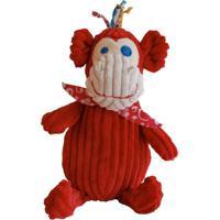 Pelúcia Simply Macaco Deglingos Vermelho - Kanui