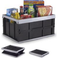 Caixa Organizadora Plástico Dobrável Prática 10Kg Preto