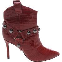 Ankle Boot Rock Western Croco Red | Schutz