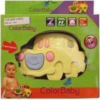 Brinquedo Musical Color Baby Carrinho Amarelo