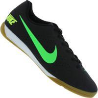 Chuteira Futsal Nike Beco 2 - Adulto - Preto/Verde Cla