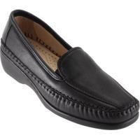 Sapato Feminino Gasparini Mocassim Conforto - Feminino-Preto