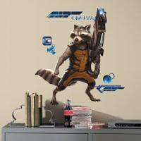 Adesivo De Parede Rocket Raccoon - Guardiões Da Galaxia