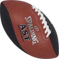 Bola De Futebol Americano Spalding Ast Spiral - Preto/Vermelho