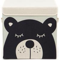 Caixa Organizadora Infantil Com Tampa - Urso Abu