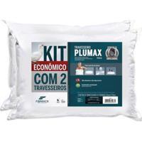 Kit 2Pã§S Travesseiros Fibrasca Plumax Percal 50X70Cm Branco - Branco - Dafiti