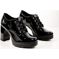 Sapato Bebecê Oxford Feminino - Feminino-Preto