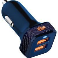 Carregador Veicular- Azul Escuro- 6X3X2Cm- 2 Usbi2Go