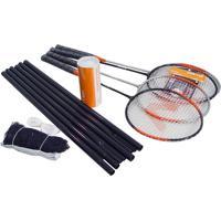 Kit Badminton 4 Raq. + 3 Petecas Vszr004 - Vollo
