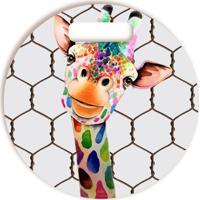 Tábua De Corte Vickttoria Vick Girafa Divertida Redonda Redondo 30 X 30 Cm