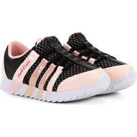Tênis Infantil Pink Cats Jogging Tiras Feminino - Feminino-Rosa+Preto