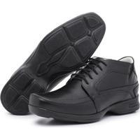 Sapato Conforto Couro Top Franca Shoes Masculino - Masculino-Preto