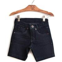 Bermuda Jokenpô Infantil Jeans Dark - Masculino-Jeans