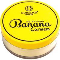 Pó Banana Carmem Doralice Make Up Único Multicores