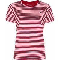 Polo Ralph Lauren Camiseta Com Listras - Vermelho