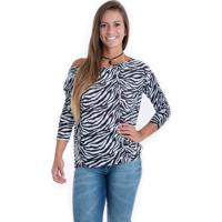 Blusa Kam Bess Zebrinha Estampa Zebra