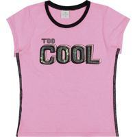 """Blusa """"Too Cool"""" - Rosa & Preta- Lecimarlecimar"""