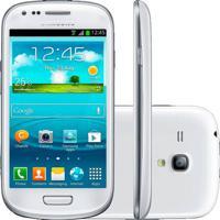 """Smartphone Galaxy S3 Mini Samsung Branco - 3G - 16Gb - Wi-Fi - 4"""" - 5Mp - Android 4.2 - Desbloqueado"""