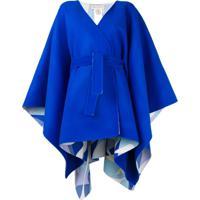 Emilio Pucci Casaco De Lã Com Cinto - Azul
