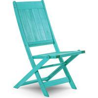 Cadeira Dobrável Gourmet De Madeira Para Piscinas Sem Braços Acqualung+ Stain Azul