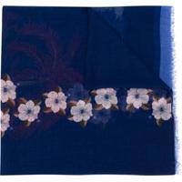 Etro Echarpe Floral - Azul