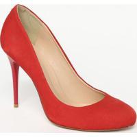 Sapato Tradicional Acamurã§Ado Com Pespontos - Vermelho