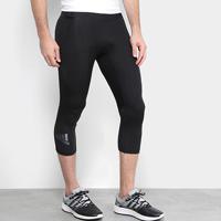 Calça Legging Adidas Alphaskin Sport 3/4 Masculina - Masculino-Preto+Cinza