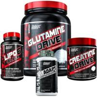 Creatina + Glutamina 1Kg + Lipo 6 + Vitadapt 300G Nutrex - Unissex