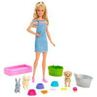 Boneca Barbie Família Banho De Cachorrinhos - Fxh11 - Mattel