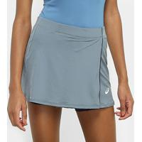 Short Saia Asics Tennis - Feminino-Cinza