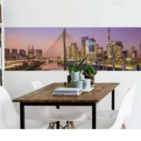 Painel Fotográfico Adesivo Ponte Sp 2,13Mts X 61Cm Grudado Adesivos