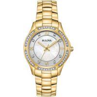 9b63272934b Relógio Bulova Feminino Aço Dourado - 98L256