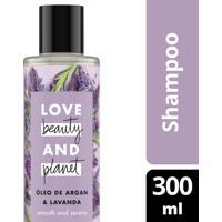 Shampoo Love Beauty And Planet Óleo De Argan E Lavanda 300Ml