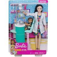 Boneca - Barbie Profissões - Dentista Morena Dhb63