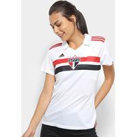 Camisa São Paulo I 2018 S/N° Torcedor Adidas Feminina - Feminino