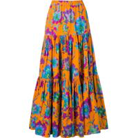 La Doublej Long Printed Skirt - Laranja