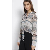 Camisa Texturizada & Abstrata- Azul & Roxa- Milioremiliore