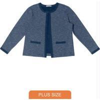Casaco Feminino Tweed Azul