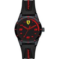 Relógio Scuderia Ferrari Infantil Borracha Preta - 860006