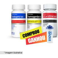 Kit Testopro⮠+ Thermogenize 420® + L-Carnitina⮠Com Coqueteinove