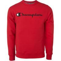 Blusão Champion Powerblend Crew - Masculino - Vermelho