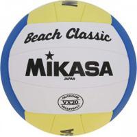 Bola De Vôlei Mikasa Beach Torcedor - Amarelo/Azul