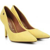 Scarpin Vizzano Salto Alto Bico Fino - Feminino-Amarelo