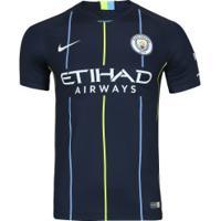 Camisa Manchester City Ii 18 19 Nike - Masculina - Azul Esc Branco d0ec8e917fb09