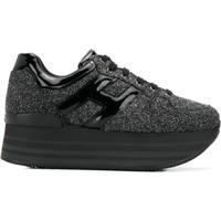 Hogan Glitter Platform Sneakers - Preto