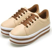 Tênis Casual Ousy Shoes Sapatenis Flatform Nude