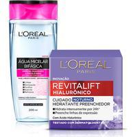 Kit L'Oréal Paris Água Micelar Bifásica 200Ml + Creme Anti-Idade Noturno Revitalift Hialurônico 50Ml