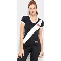 cbc22e4268 Netshoes  Camiseta Vasco Da Gama Retro Mania 1948 Feminina - Feminino